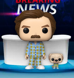 Anchorman Funko Pop! Ron with Baxter (2020 Shared Sticker) #946 (Pre-Order)