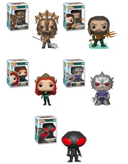 Aquaman Funko Pop! Complete Set of 5 (Pre-Order)