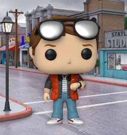 Back To The Future Funko Pop! Marty Checking Watch (2020 Shared Sticker) #965 (Pre-Order)