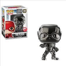 Justice League Funko Pop! The Flash (Black Chrome) #208