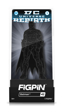 DC Comics Rebirth FiGPiN Batman (Black) Collector Case #42