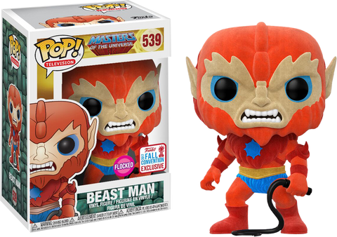 Masters of the Universe Funko Pop! Beast Man (Flocked) (Shared Sticker) #539