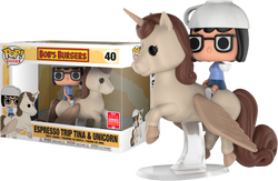 Bob's Burgers Funko Pop! Espresso Trip Tina & Unicorn (Shared Sticker) #40