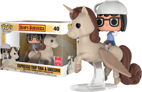 Bob's Burgers Funko Pop! Espresso Trip Tina & Unicorn (Shared Sticker)