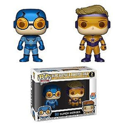 DC Super Heroes Funko Pop! Blue Beetle & Booster Gold (Metallic) (2-Pack)