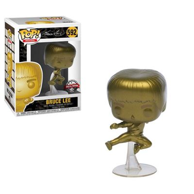 Bruce Lee Funko Pop! Bruce Lee (Flying Man) (Gold) #592