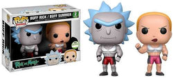 Rick and Morty Funko Pop! Buff Rick & Buff Summer (Shared Sticker) (2-Pack)