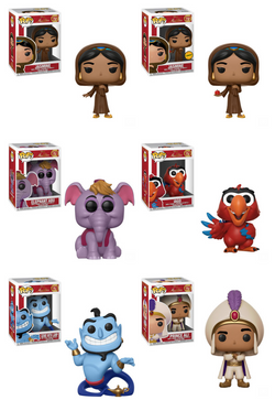 Aladdin Funko Pop! Complete Set of 6 CHASE Included (Pre-Order)