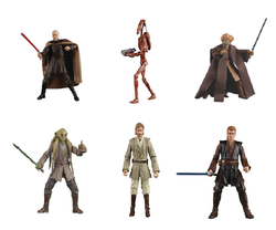 Star Wars The Black Series Complete Set of 6 (Attack of the Clones) 6in (Pre-Order)