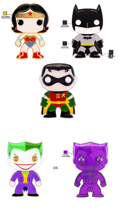DC Classic Funko Pop! Pins Complete Set of 4 (Chance of Chase) (Pre-Order)