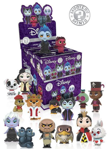 Disney Villains Funko Mystery Mini Blind Box - 12 Unit Display