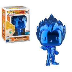 Dragon Ball Z Funko Pop! Super Saiyan Vegeta (Blue) (Chrome) (TT Sticker) #154