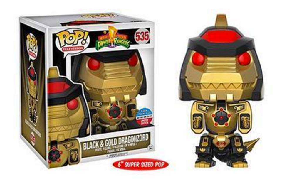 Power Rangers Funko Pop Black And Gold Dragonzord Toy