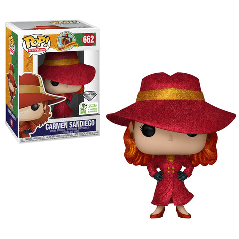 Carmen Sandiego Funko Pop! Carmen Sandiego (Diamond) (Shared Sticker) #662
