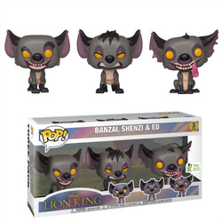 Lion King Funko Pop! Banzai, Shenzi & Ed (Shared Sticker) (3-Pack)