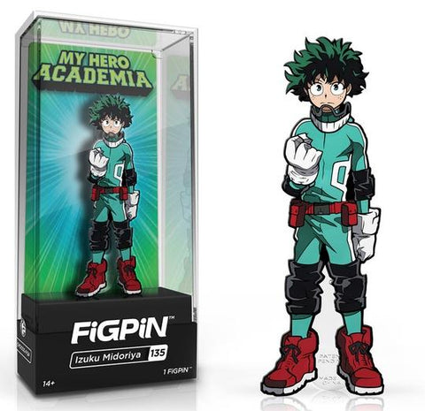 My Hero Academia FiGPiN Izuku Midoriya (Deku) Collector Case #135