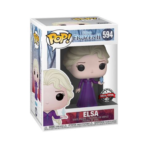 Frozen 2 Funko Pop! Elsa (with Crystal) #594 (Pre-Order)