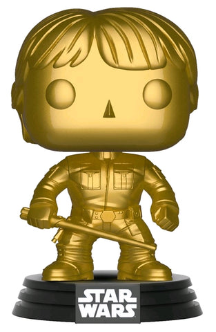 Star Wars Funko Pop! Luke Skywalker (Gold Metallic) (Pre-Order)