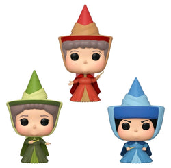 Sleeping Beauty Funko Pop! Fauna, Flora. Merryweather (Shared Sticker) (3-Pack) (Pre-Order)