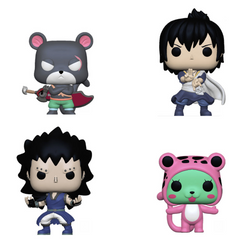 Fairy Tail Funko Pop! Complete Set of 4 (Pre-Order)