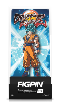 Dragon Ball Z FiGPiN Super Saiyan God Super Saiyan Goku Collector Case #116