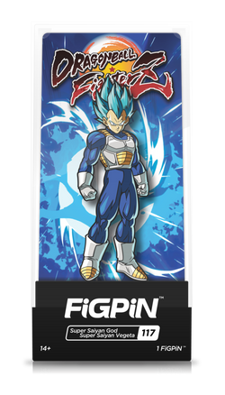 Dragon Ball Z FiGPiN Super Saiyan God Super Saiyan Vegeta Collector Case #117