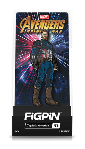 Avengers Infinity War FiGPiN Captain America Collector Case #138
