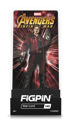 Avengers Infinity War FiGPiN Star-Lord Collector Case #140
