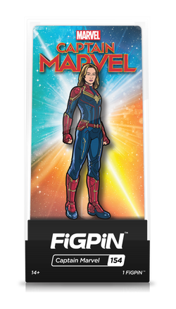 Captain Marvel FiGPiN Captain Marvel Collector Case #154