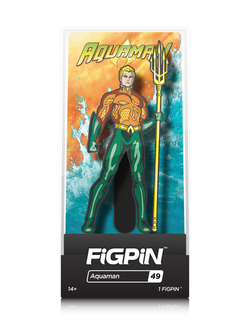 DC Justice League FiGPiN Aquaman Collector Case #49