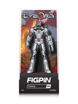 DC Justice League FiGPiN Cyborg Collector Case #50