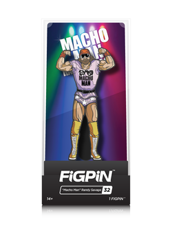 "WWE FiGPiN ""Macho Man"" Randy Savage Collector Case #32"