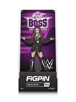 WWE FiGPiN Sasha Banks Collector Case #104