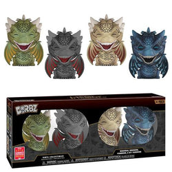 Game of Thrones Funko DORBZ Rhaegal, Drogon, Viserion & Icy Viserion (Shared Sticker)