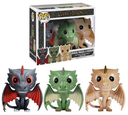 Game of Thrones Funko Pop! Drogon, Rhaegal, Viserion (3-Pack)