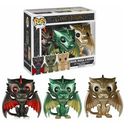 Game of Thrones Funko Pop! Drogon, Rhaegal, Viserion (3-Pack) (Metallic)