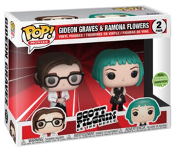 Scott Pilgrim Vs. the World Funko Pop! Gideon Graves & Ramona Flowers (Shared Sticker) (2-Pack)
