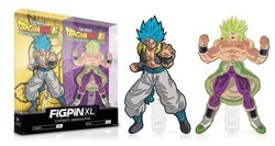 Dragon Ball Super FiGPiN XL Gogeta (Glitter) X15 and Broly (Gold) X16