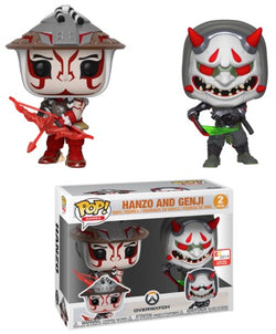 Overwatch Funko Pop! Hanzo and Genji (Kabuki & Oni) (2-Pack)