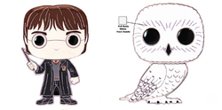 Harry Potter Funko Pop! Pins Harry Potter (1 in 3 Chance of Hedwig Chase) (Pre-Order)