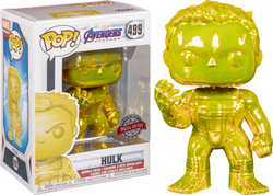 Avengers Endgame Funko Pop! Hulk (Infinity Gauntlet) (Yellow Chrome) #499