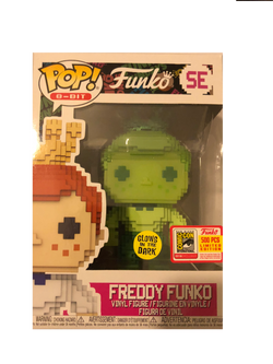 Freddy Funko Pop! 8-Bit Green (GITD) #SE