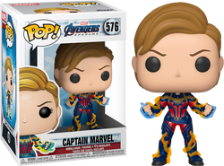 Avengers Endgame Funko Pop! Captain Marvel (New Hair) (Charged Up) #576