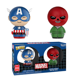 Marvel Funko DORBZ Captain America and Red Skull (2-Pack) (Shared Sticker)