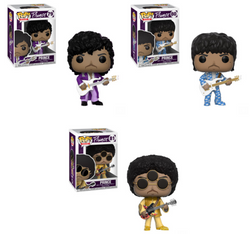 Prince Funko Pop! Complete Set of 3 Wave 2 (Pre-Order)