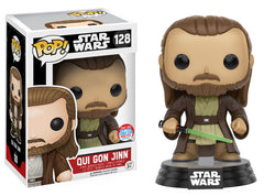 Star Wars Funko Pop! Qui Gon Jinn (Convention Sticker) #128