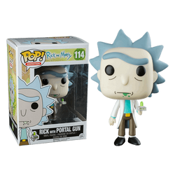 Rick and Morty Funko Pop! Rick with Portal Gun #114