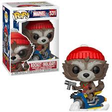 Marvel Funko Pop! Rocket (Holiday Snowmobile) #531
