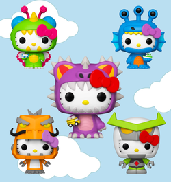 Sanrio Kaiju Funko Pop! Complete Set of 5 (Pre-Order)