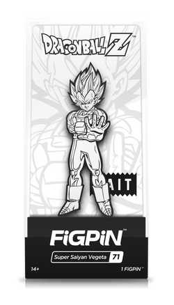 Dragon Ball Z FiGPiN Super Saiyan Vegeta (Black/White) #71